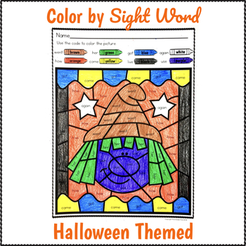 Color by Sight Word Halloween
