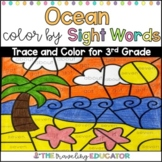 Color by Sight Word Worksheets for 3rd Grade with an Ocean Theme