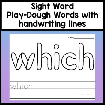 Halloween Color by Sight Word and Sight Word Coloring Sheets {8 Pages!}
