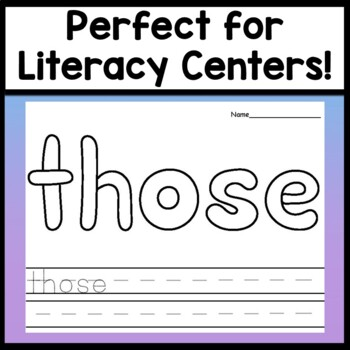 Sight Word Coloring Sheets for Halloween {8 Pages!}