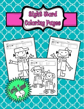 NO PREP Kindergarten Color by Sight Word set - Dolch Preprimer