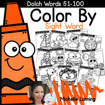 Color by Sight Word *words 51-100*