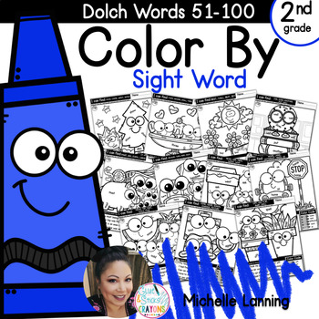 Color by Sight Word *words 51-100*SecondGrade