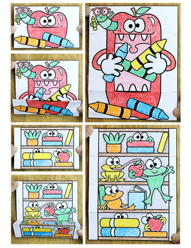 Color by Sight Words Differentiated Surprise Pictures: Back to School Activities