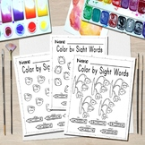 Color by Sight Words - Coloring Page - First Grade