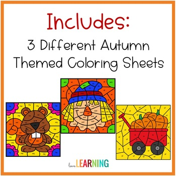 Color by Sight Words: Fall Theme