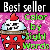 Color by Sight Words PLUS sentence writing ~ February Edition!!!!