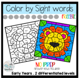 Color by Sight Words US spelling| FREEBIE