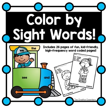 Sight Words / High frequency Words Practice {Color by Code}