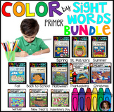Color by Code Sight Words Primer Season Bundle Sight Word Activities
