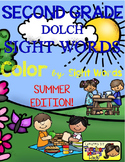 Color by Sight Words ~ SUMMER Edition (2nd Grade)