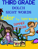 Color by Sight Words ~ SUMMER Edition (3rd Grade)