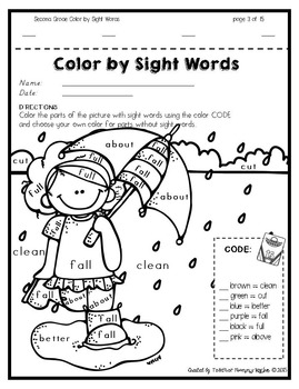 Color by Sight Words ~ SPRING Edition Bundle!