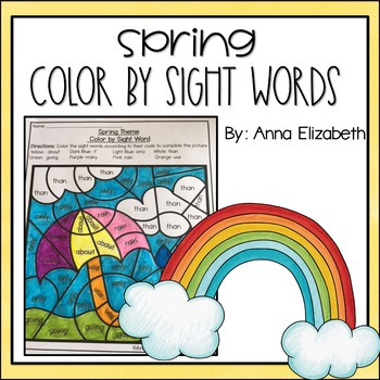 #springintosavings Spring Color by Sight Words
