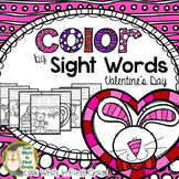 Color by Sight Words  Valentine's Day