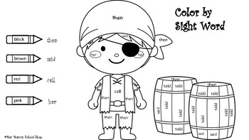 Color by Sight Words worksheet