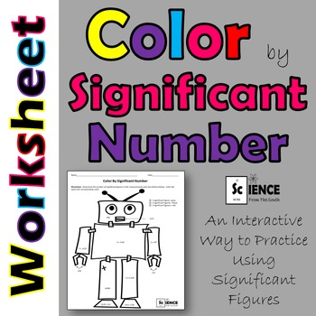 Significant Figures Color by Number Robot Worksheet