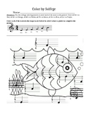Color by Solfege- Treble Clef, Fish Edition