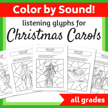 Religious Christmas Music.Color By Sound Listening Glyphs For Christmas Carols Religious Images