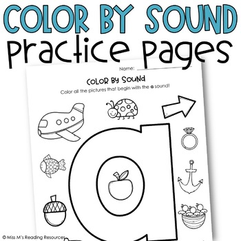 Color by Sound Practice Pages