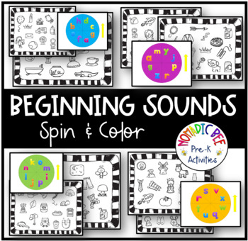 Letter sounds: Color by Sound Spinner Game