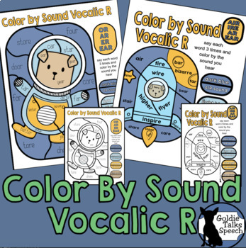 Color by Sound Vocalic R | Speech Therapy | Articulation