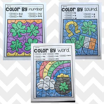 Color by Sound, Word, and Number