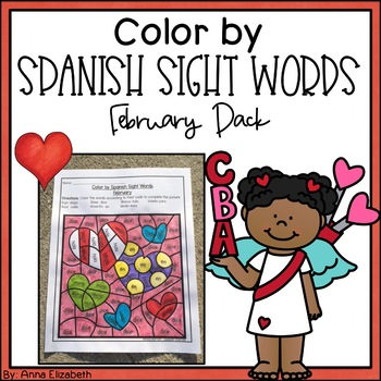 Spanish Sight Word Color by Code (February Pack)