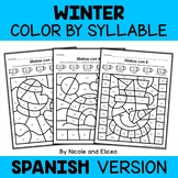 Winter Color by Spanish Syllable Activities