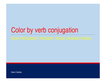 Color by Spanish verb conjugation - high frequency verbs -