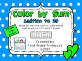Color by Sum:  Addition to 20