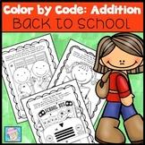 Color by Number Addition Kindergarten 1st 2nd Grade | Math Centers 1st Grade 2nd
