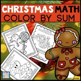 Holiday Math Color by Sum Christmas