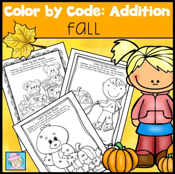 Color by Number Thanksgiving Addition   Color by Number Fall Addition