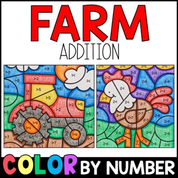 Color by Sum: Farm Fun!