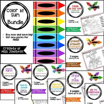 Color by Sum GROWING Bundle