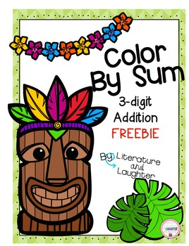Color by Sum- Luau Themed FREEBIE