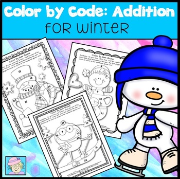 Color by Sum:  Winter Version (Common Core Based)