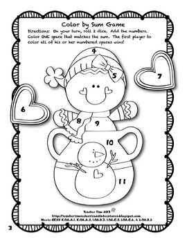 Winter Coloring Pages Kindergarten 1st 2nd Grade Addition For Winter