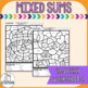 Color by Numbers- Addition and Subtraction 1-20 - Fall themed. NO PREP
