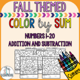 Color by Numbers- Addition and Subtraction 1-20 - Fall the