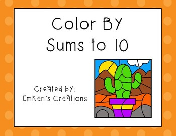 Color by Sums to 10