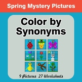 Color by Synonyms - Spring Mystery Pictures