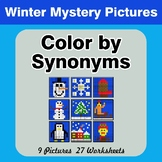 Color by Synonyms - Winter Mystery Pictures