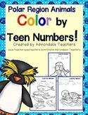Color by Teen Numbers Polar Region Animals