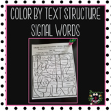 Color by Text Structure Signal Words FREE