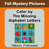 Color by The Missing Alphabet Letters -  Autumn (Fall) Mys