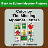 Color by The Missing Alphabet Letters -  Back To School My