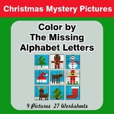 Color by The Missing Alphabet Letters - Christmas Mystery