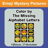 Color by The Missing Alphabet Letters - Emoji Mystery Pictures